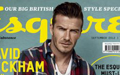 David Beckham en Esquire magazine [Sept 2012]
