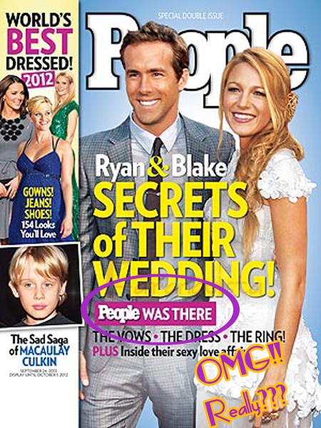 C'mon People!! Blake Lively no vendió las fotos de su boda!