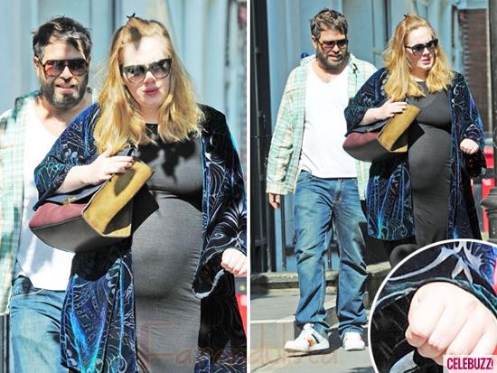 Fotos de Adele embarazada!! Sin anillo!!!
