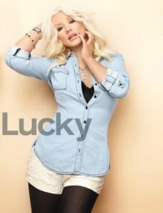 Christina Aguilera en Lucky magazine