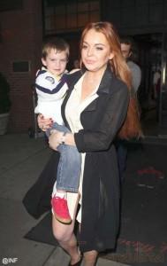 Lindsay Lohan en la promo de Liz & Dick