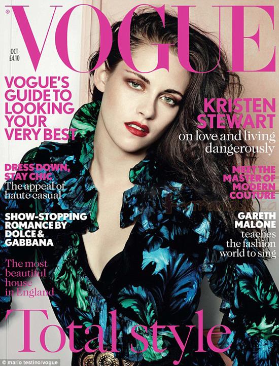Kristen Stewart en Vogue magazine