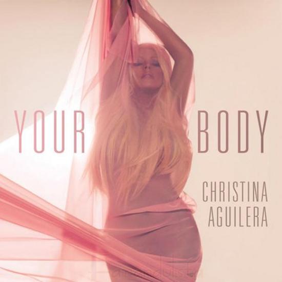 Christina Aguilera en el cover del single Your body