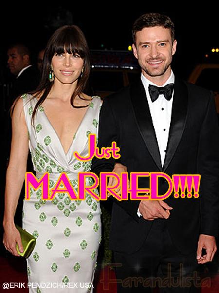 Justin Timberlake & Jessica Biel se casaron!!