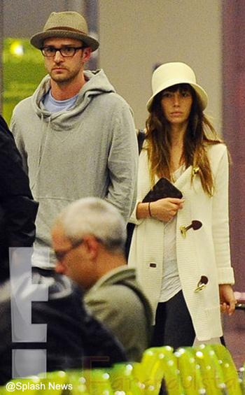 Justin Timberlake y Jessica Biel como esposos!!