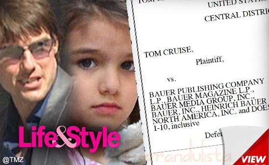 Tom Cruise demanda tabloides por 50 millones de dolaretos!