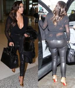 El Look de cuero de Kim Kardashian