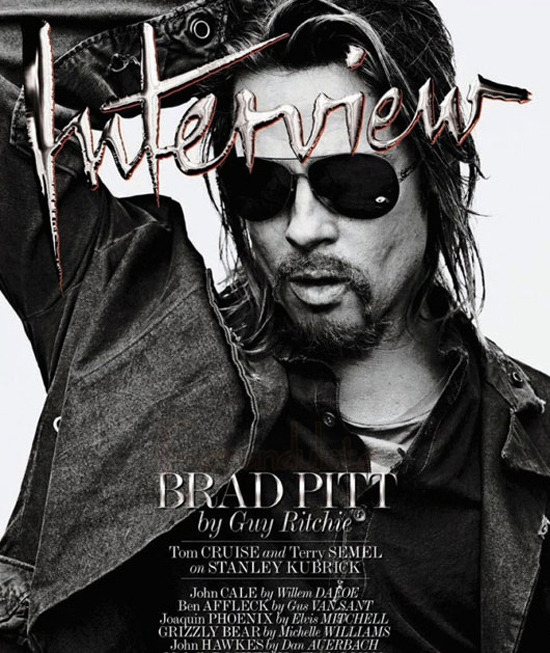 Brad Pitt en Interview magazine - HOT!