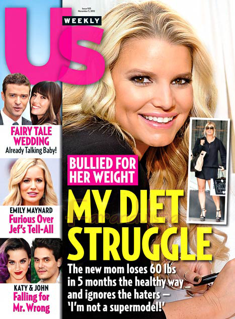 Jessica Simpson perdió 60 lbs (27 kg) en 5 Meses