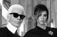 Victoria Beckham posa para Karl Lagerfeld