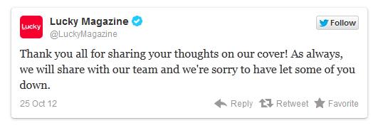 Lucky mag se disculpa por la portada con Britney
