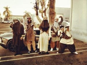 Chris Brown se disfrazó de talibán