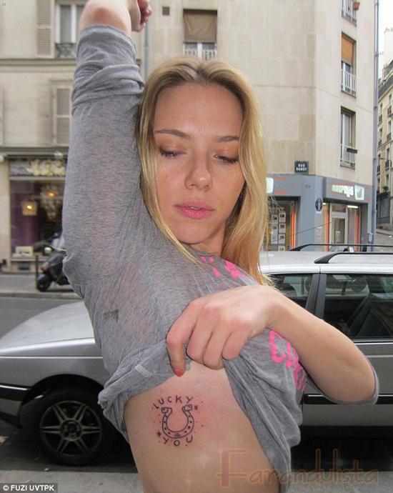 Scarlett Johansson se tatuó una herradura --- fug!