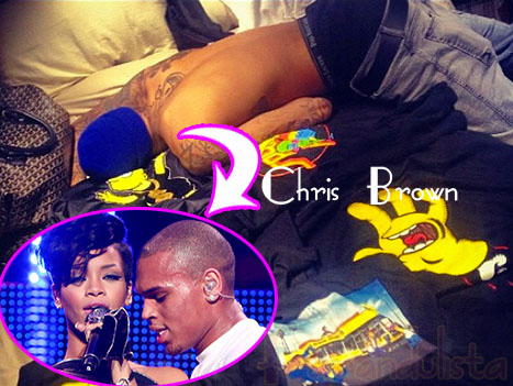 Rihanna publica foto de Chris Brown en la cama