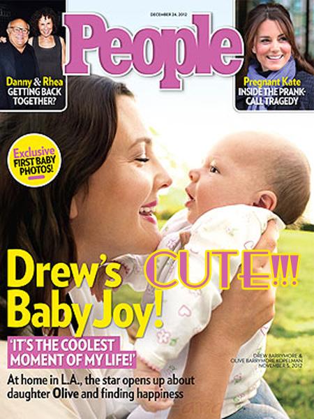 Conozcan a la Hija de Drew Barrymore, Olive... awww