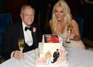 Hugh Hefner se casó con Crystal Harris