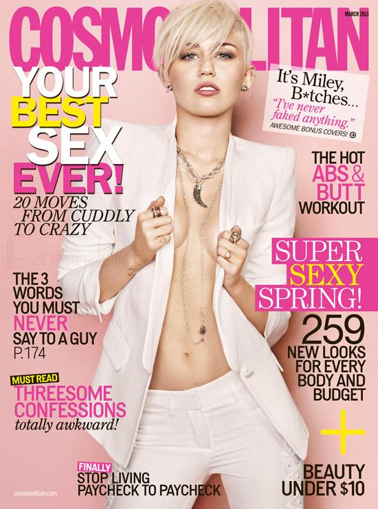 Miley Cyrus en Cosmopolitan - Marzo 2013