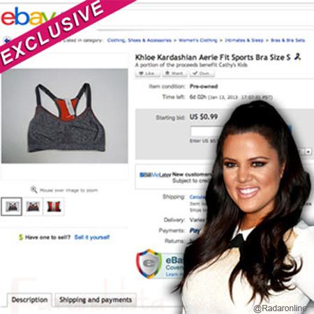 Khloe Kardashian vende su ropa interior en Ebay