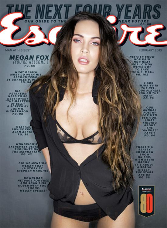 Megan Fox en Esquire Magazine - Febrero 2013