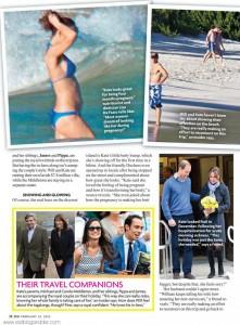 Kate Middleton muestra su baby bump en bikini