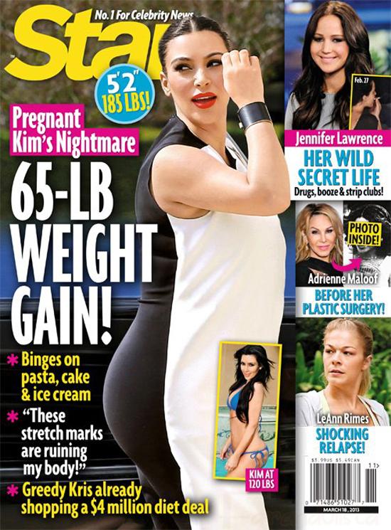 Kim Kardashian ha ganado 30 kilos? Su Peor pesadilla!! Preggo y Sola?