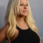 Christina Aguilera en la Premier de The Voice T 4