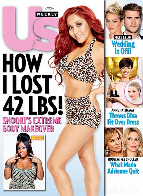 FYI: Snooki perdió 19 kilos! Su extreme Body Makeover