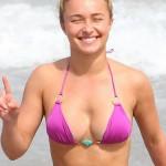 Hayden Panettiere en bikini - definitivamente son implantes