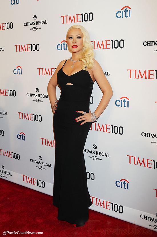 Christina Aguilera más flaca en el Time 100 Gala?