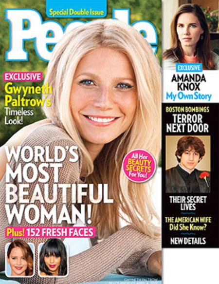 Gwyneth Paltrow es la Mujer Más Hermosa del 2013 según People