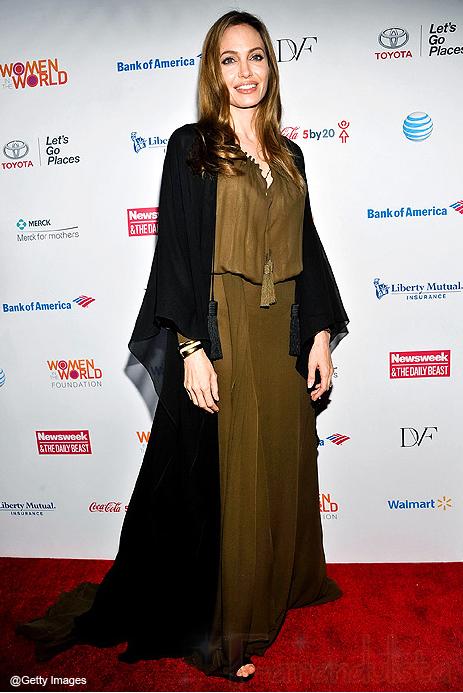 Angelina Jolie con cabello claro en el Women in the World 2013