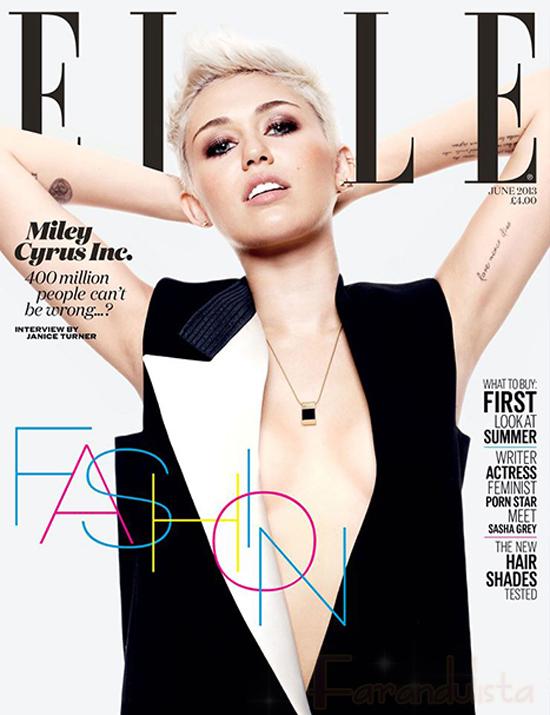 Miley Cyrus habla sobre estar comprometida con Liam - Elle UK