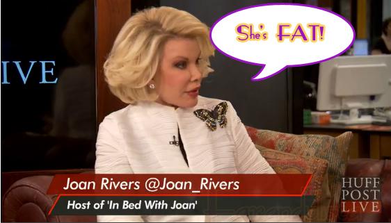 Joan Rivers le dice a Adele GORDA! She's FAT!