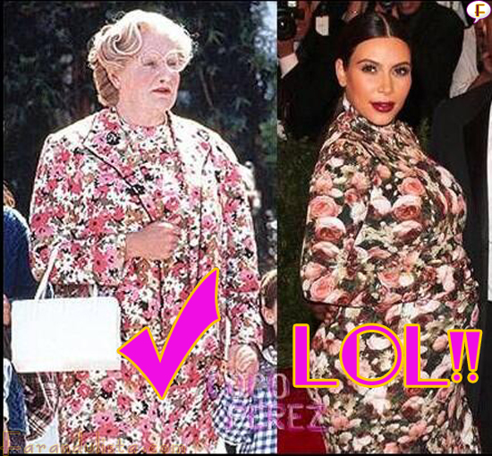 mrs-doubfire-kim-kardashian-floral-fug-dress