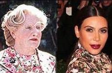 Quien lo lleva mejor?? Who Wore it Better?? Mrs. Doubfire o Kim Kardashian