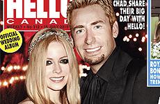 Avril Lavigne y Chad Kroeger en su foto de boda!