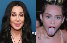 Cher le dice a Miley Cyrus lengua sucia… Lol! Ewww…