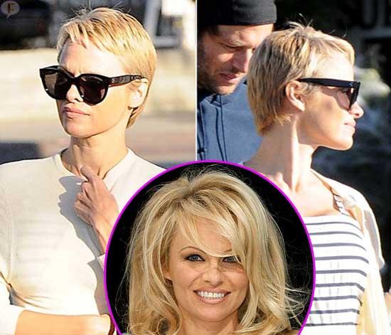Pamela Anderson tiene nuevo look! Pixie Cut!