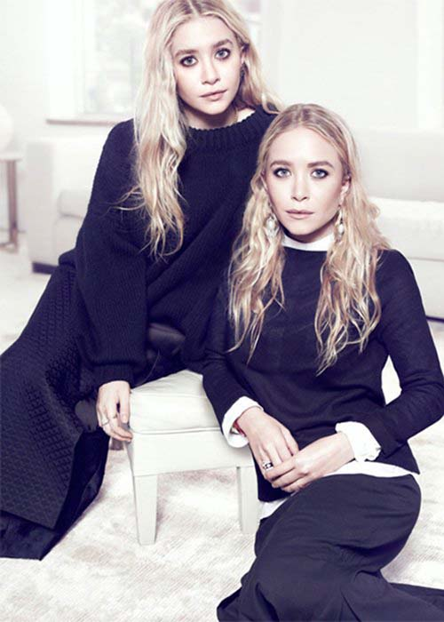 Las Gemelas Olsen en The Edit magazine - creepy!