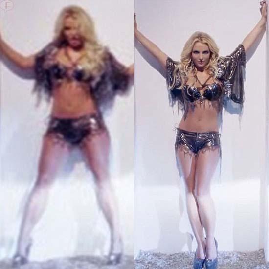Britney Spears editada en el video Work B*tch??