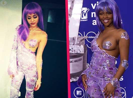 Miley Cyrus se disfraza de Lil Kim en los MTV 1999 para Halloween