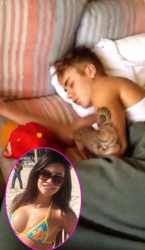 Hey Selena! Justin durmiendo con otra chica! OMG!