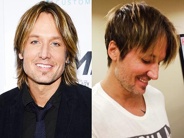 Keith Urban corta su cabello