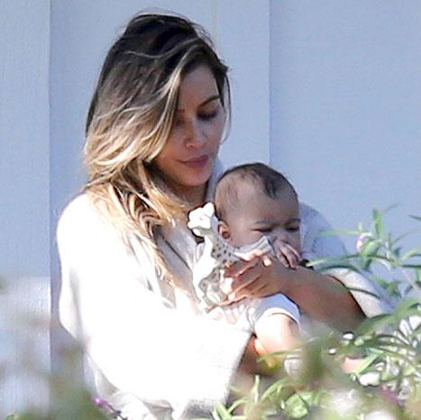 Kim Kardashian con Baby Nori