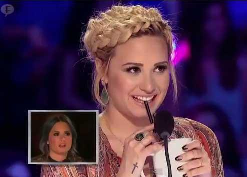 Demi Lovato ofendida por chiste sobre su problema con la bebida en X Factor