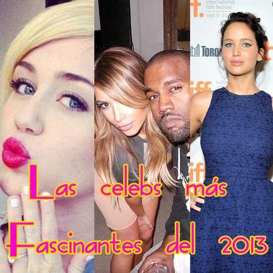 Las celebs mas fascinantes 2013: Miley, Kimye...