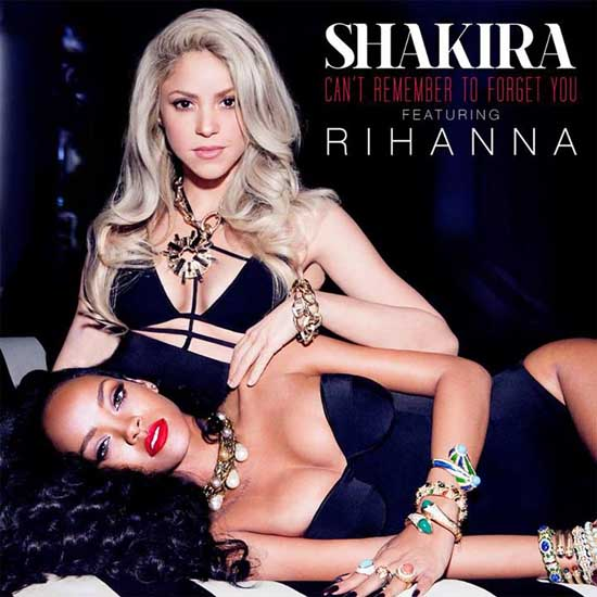 Shakira y Rihanna en la portada de 'Can't Remember To Forget You'