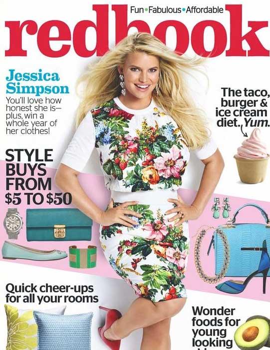 Jessica Simpson sigue hablando de su peso - [Redbook]