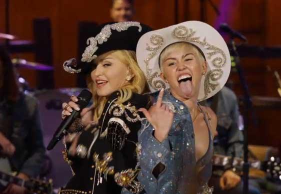 Miley Cyrus ft. Madonna en su MTV Unplugged