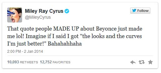 Miley Cyrus insultó a Beyonce?